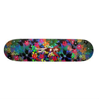 Skateboard Pixie Girl Flowers Custom Skateboard