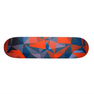 skateboard red blue