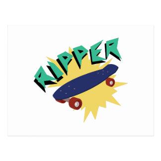 Skateboard Ripper Postcard
