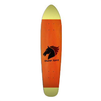"Skateboard ""Skater Spirit "" Orangerot&gelbe strip"