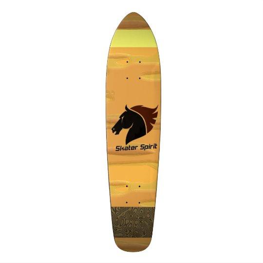 Skateboard Skater Spirit with abstarkten samples
