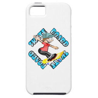 Skateboard text in light blue colour with boy skat iPhone 5 cover