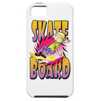 Skateboard text in orange and violet colour with iPhone 5 case