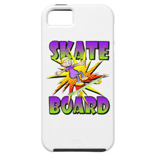 Skateboard text in violet colour with boy skating iPhone 5 case