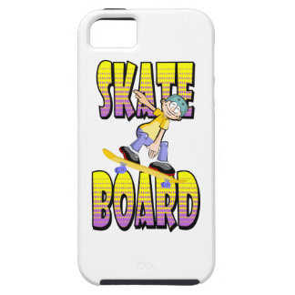 Skateboard text in yellow and violet colour with case for the iPhone 5