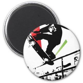 Skateboard tricks 2 inch round magnet