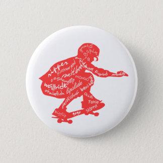 Skateboard Typography Button