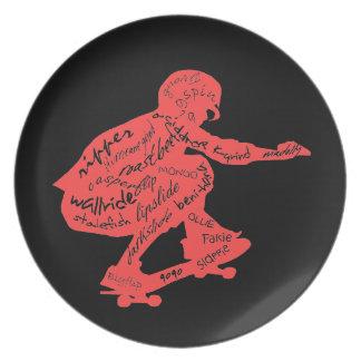 Skateboard Typography - Room Decor Plate