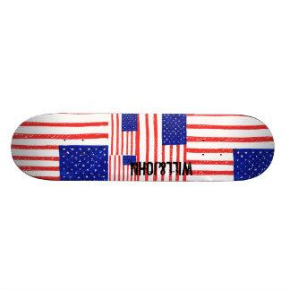 Skateboard US flag