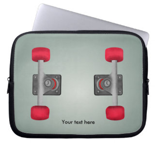 Skateboard Wheels Bolted On Illusion Laptop Sleeve