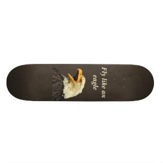 Skateboard with eagle head shot