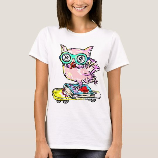 Skateboard With Owl T-Shirt