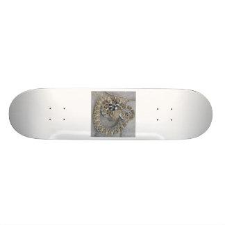 Skateboard with Rattlesnake