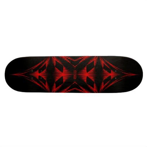 Skateboard Zizzago Black Red Tribal Skate Board Decks