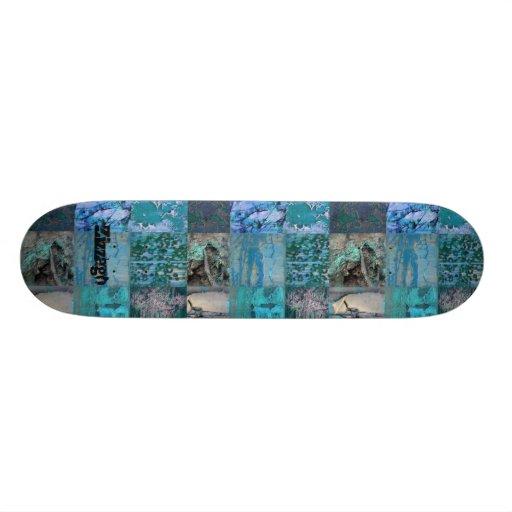 Skateboard Zizzago Blue Street Patch Custom Skate Board