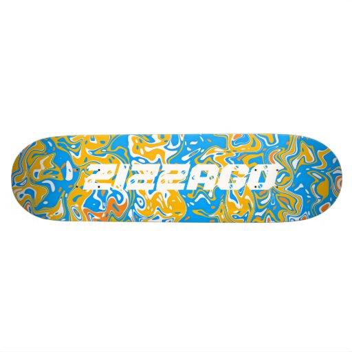 Skateboard Zizzago Blue Yellow Wild Skate Board Deck