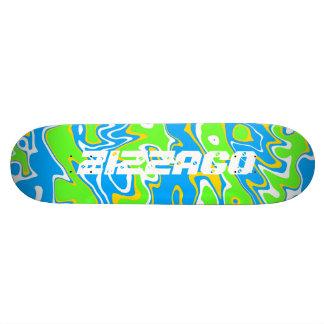 Skateboard Zizzago Blue Yellow Wild 2 Skateboard