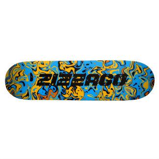 Skateboard Zizzago Blue Yellow Wild 2 Skate Board