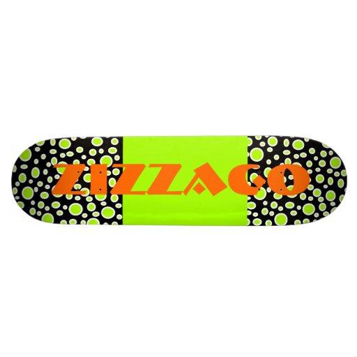 Skateboard Zizzago Bright Lime Bubbles Skate Board Decks