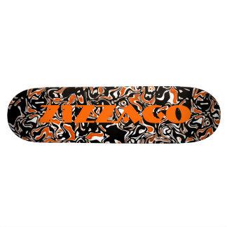 Skateboard Zizzago Bright Orange Blots