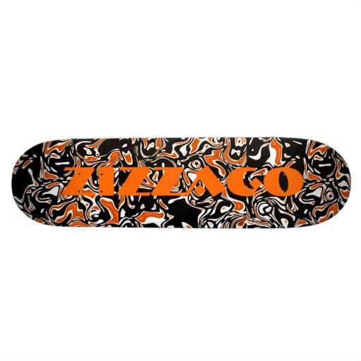 Skateboard Zizzago Bright Orange Blots Skateboard Deck