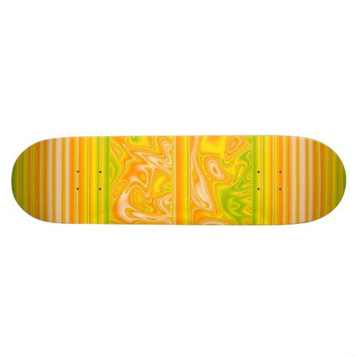 Skateboard Zizzago Citrus Swirl Stripe Skate Board Deck