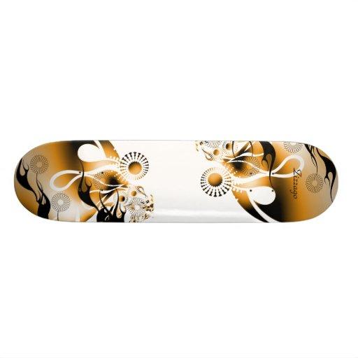 Skateboard Zizzago Gold Burst Skate Board Decks