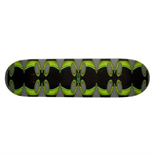 Skateboard Zizzago Grey Greenie Black Skate Decks