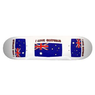 Skateboard Zizzago I Love Australia Flag Skateboard