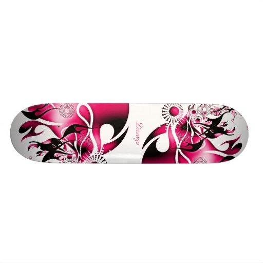 Skateboard Zizzago Pink Burst 2 Skate Board Deck