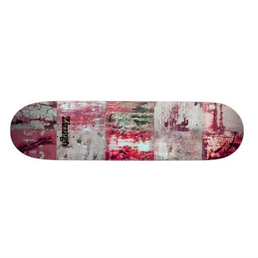 Skateboard Zizzago Pink Street Patch Skate Deck