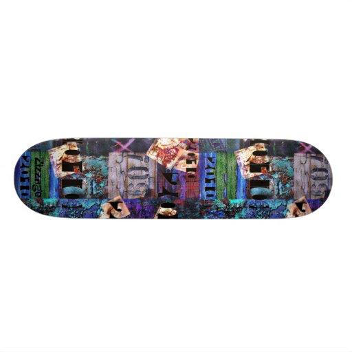 Skateboard Zizzago Street Art Abstract 3A Grunge Skate Deck