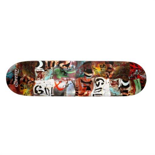 Skateboard Zizzago Street Art Abstract A3 Grunge Skate Deck