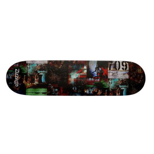 Skateboard Zizzago Street Art Abstract A Grunge Skate Deck