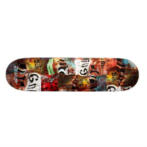 Skateboard Zizzago Street Art Abstract Grunge Skateboards