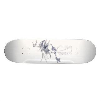 skateboard zombie bat
