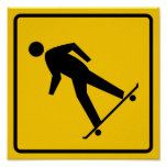 Skateboard Zone Highway Sign