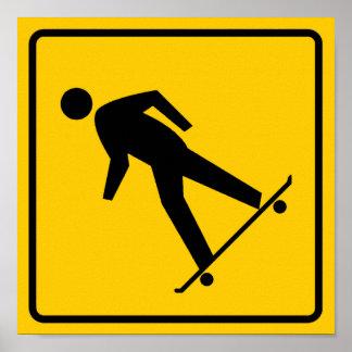 Skateboard Zone Highway Sign