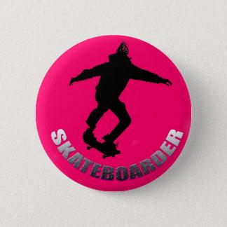 Skateboarder 2 Inch Round Button