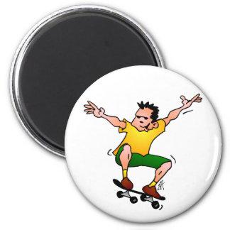 Skateboarder 2 Inch Round Magnet