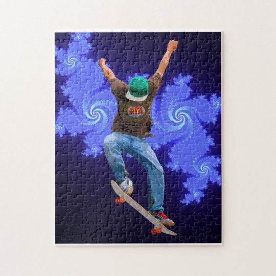 Skateboarder Action Sports Art Jigsaw Puzzle