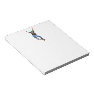 Skateboarder Action Sports Art Notepads