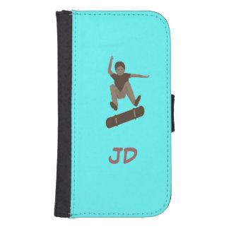 Skateboarder Add Initials iphone wallet case Galaxy S4 Wallets