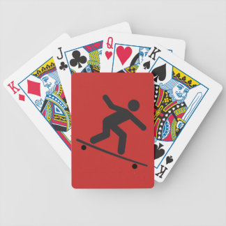 Skateboarder Bicycle Playing Cards