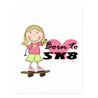SKATEBOARDER - Blond Girl Tshirts and Gifts Postcard