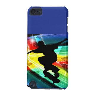 Skateboarder in Criss Cross Lightning iPod Touch 5G Cases