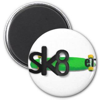 Skateboarder logo 2 inch round magnet