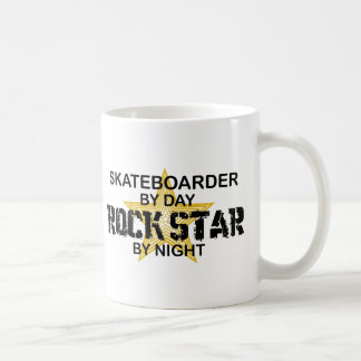 Skateboarder Rock Star by Night Coffee Mug