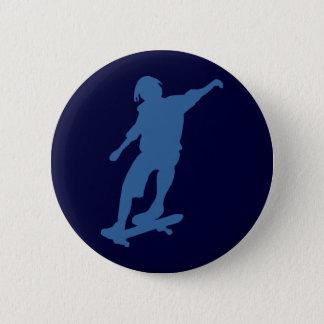 Skateboarder Silhouette Pin Back Button