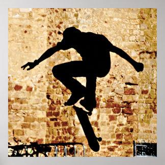 Skateboarder Silhouette Poster